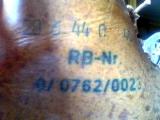 Numer RBNR wypalony na cholewce